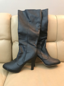 Womens High Heel Boots - Black