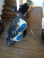 Golf bag with clubs Fairway brand.