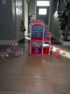 Barbie house and accessories