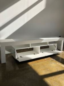 Like New White TV Console for Sale