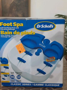 dr scholl foot spa with soothing heat and vibration massage