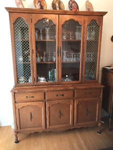 French Provincial Dinning Set & Hutch- Looking For a New Home :)