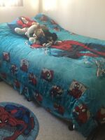 Double bed with bedding