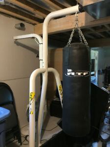 Boxing Stand Platform c/w Heavy Bag