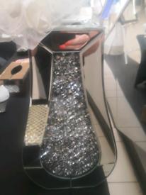 Vase Mirror Crushed Crystal