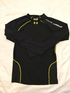 UNDER ARMOUR LONG SLEEVE COMPRESSION HEATGEAR BLACK MEDIUM
