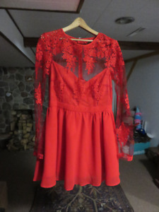 RED DRESS ONLY WORN ONCE, PERFECT CONDITION