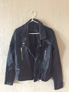 Womens M faux leather jacket