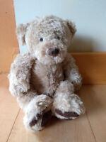 teddy bear at plaid lake