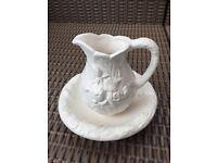 Vintage Ceramic Cream/ Milk jug and saucer