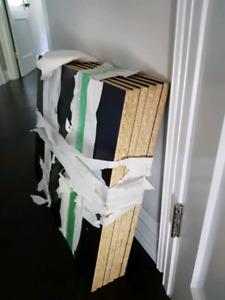 Pax wardrobe with vikedal mirror doors black-brown