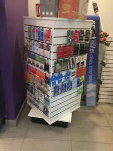 SLAT WALL CUBE MERCHANDISER FROM ULINE