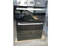 Hotpoint dual integrated oven with grill dhs53x mirror look