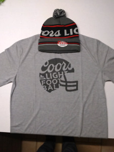 Coors light toque and t-shirt combo
