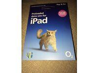 O2 sim for iPad with 5gb data
