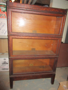 100% Original Antique (c1900) Stacking Bookcase - 3 Tall Section