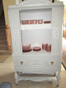 3 Great ONE OF A KIND- Antique Walnut China Cabinets-BEST OFFER