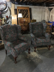 Antique - Wing Back Chairs