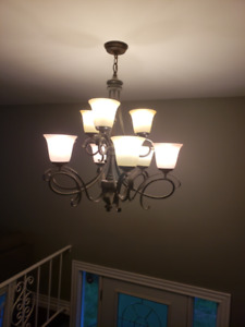 2 Hanging Entrance Lights (Chandeliers)