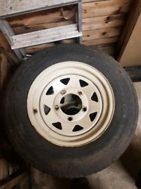 Landrover 8 spoke wheels x4