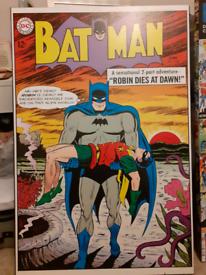 Batman vintage comic MAXI size poster print on box frame