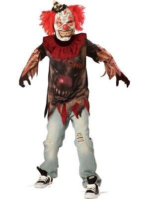 Teens Boys Creepy Evil Zombie Sideshow Clown Halloween - Creepy Zombie Clown Kostüm