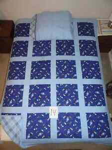 Quilted blanket and pillow case