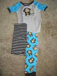 3 piece carter's boys pajamas, size 7