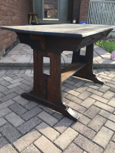 Rare Antique Limbert Library Table  desk original Ebon-Oak line