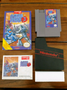 Megaman 3 nes complete in box
