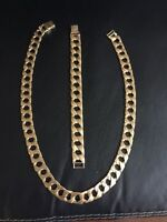 24 Inch 87 Gram Diamond Cut Gold Chain