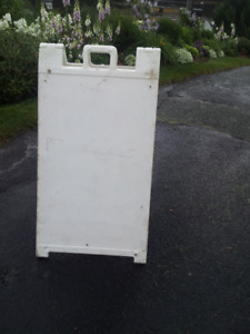 ADVERTISING SIGN - DOUBLE-SIDED SANDWICH BOARD