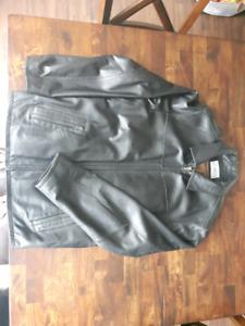 Manteau du cuir véritable pour hommes