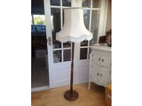 Vintage barley twist standard lamp