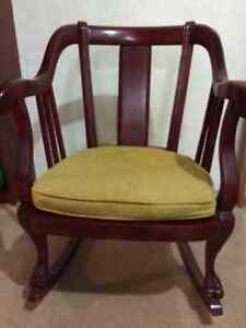 Vintage rocking chair paid 600