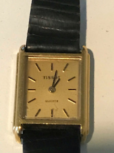 TISSOT watch wristwatch yellow gold plated RARE COLLECTIBLE