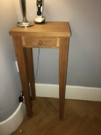 Hallway Oak Tall Telephone Table £30