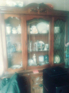 China cabinet And gold plated sets