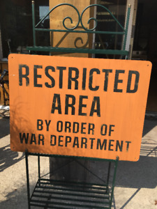 Restricted Area - Man Cave Sign