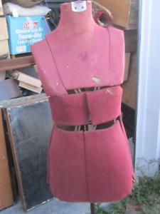 CIRCA 1920 CAST METAL STAND DRESS FORM $200 ADJUSTIBLE