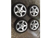 "15"" cyclone Peugeot alloy wheels 306 gti6 dturbo etc"