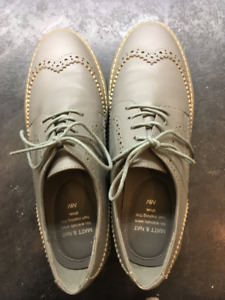 grey oxford shoes size 40 (9), vegan, canadian-made
