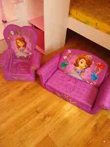 Sofia the First kids chair and sofa