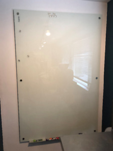 Quartet Brand Magnetic Frosted Glass Dry-Erase Board 6' x 4'