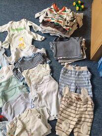 Boys 0-3 month clothes bundle