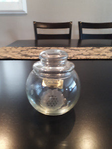 Cornflower Crystal Candy dish with lid