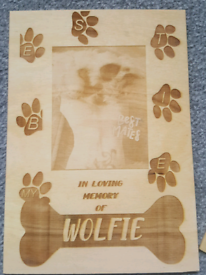 Your Pets Paw Photo Engraved Memorial Plaque