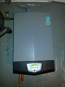 AS-IS Gas fired boiler (with new parts)