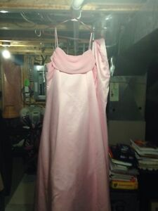 Pink Dress with shoulder wrap - size 8