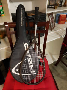 Titanium Squash Racket with case.